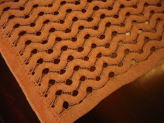 closeup of lacy table runner