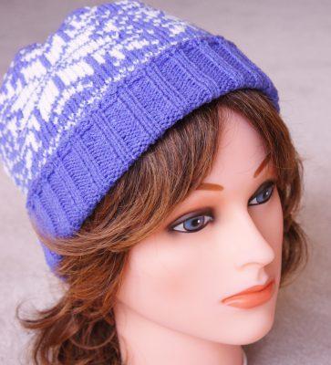 Purple Snowflake Hat
